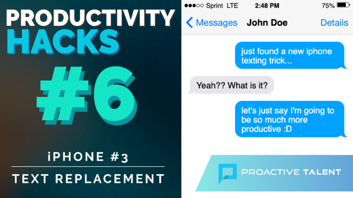Save time with this texting shortcut! | Productivity Hacks: iPhone #3